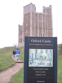 Orford Castle - one of the many historical castles in the area