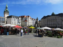 Brno's popular vegetable market, a tradition older than the city itself.