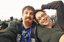 My girlfriend and I at the Moto GP race in Brno this year