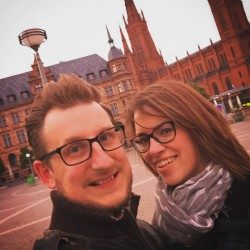 My Wife and I in our home city of Wiesbaden