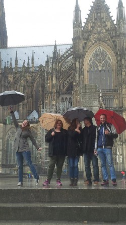 The whole clan in Koln at the Cathedral